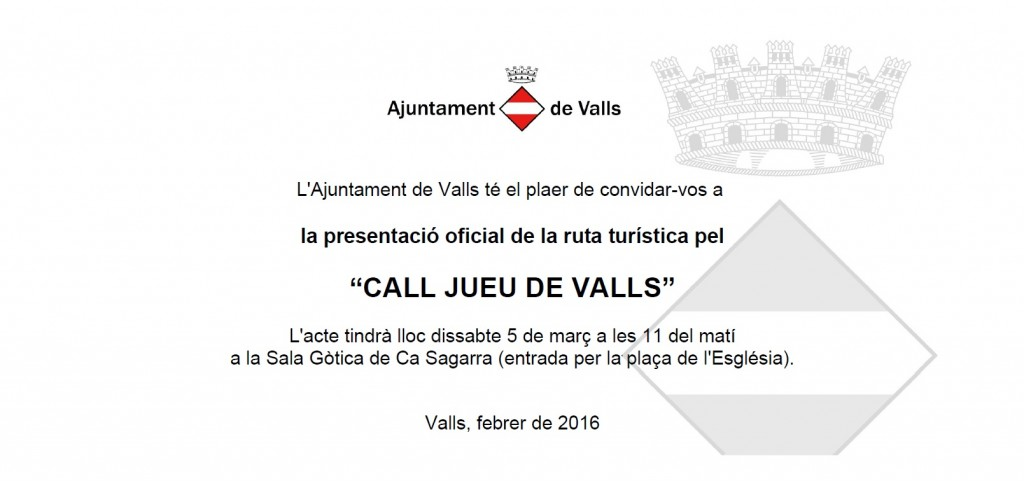 Targeto ruta pel call de Valls